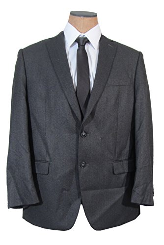 Calvin Klein Mens 2 Button Charcoal Gray Slim Fit Sport Coat Jacket- Size 40S by Calvin Klein