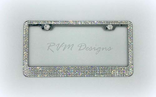 6 Row License Plate Frame made with Swarovski Crystals - Car Jewelry -  RVMdesigns