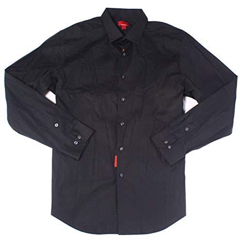 Alfani Deep Mens Slim-Fit Stretch Dress Shirt Black 17 - Dress Shirt Alfani Mens