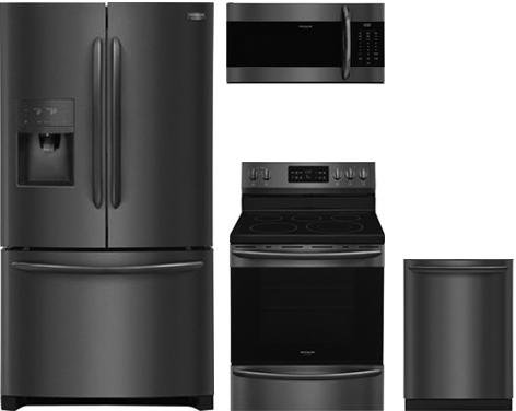 Electric French Door Refrigerator - Frigidaire 4-Piece Kitchen Package with FGHB2868TD 36