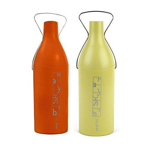 Skybar NBSKWA2501 Insulated Wine Travelers Chillers 2-Pack, Orange/Green
