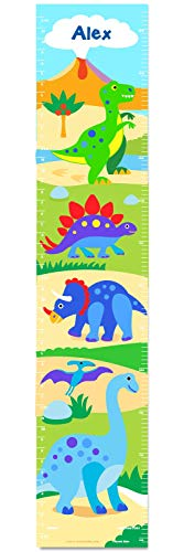 Dinosaur Land Personalized Wall Decal Growth Chart By Olive Kids (Personalized Growth Dinosaur Chart)