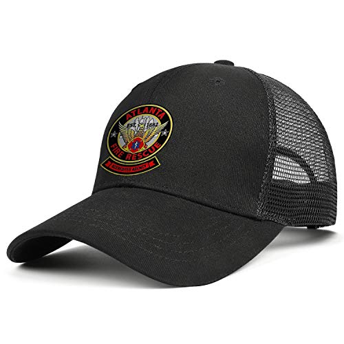 DXQIANG Atlanta Fire Rescue Department Unisex Unique Mesh Snapback Cap Low Profile Adjustable Dad Hats
