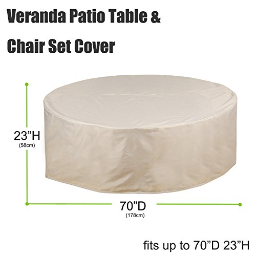 Deconovo Outdoor Chair Covers Waterproof Table and Chair Set Cover Patio Dini