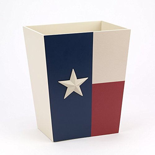 Avanti Linens 13218FMUL Texas Star Waste Basket, Medium, Multicolor