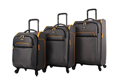 Lucas Luggage Set Air Cube 3-Piece Ultra Lightweight Expandable Suitcase with Spinners