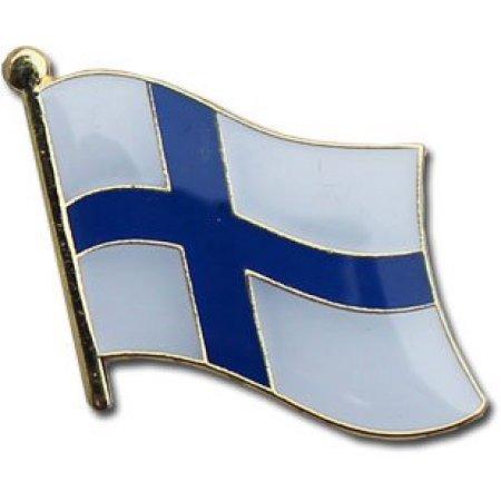 Finland Flag Metal Collectible Olympic Backpack/Lapel/Hat Pin - Suomen Lipun Rintaneulan (Finnish broach, 0.75