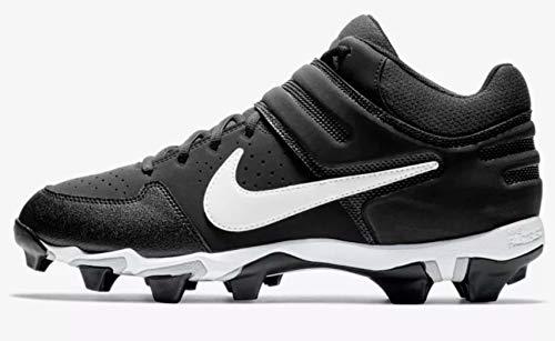 Nike Men's Alpha Huarache Varsity Keystone Mid Molded Baseball Cleat Black/White Size 8 M US