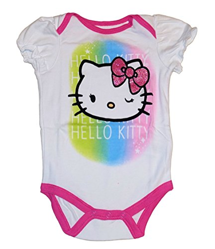 Sanrio Hello Kitty Baby Girls Bodysuit Dress Up Outfit (6-9 Months, Rainbow) (Sixties Outfit)