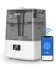 LEVOIT Humidifier for Bedroom, Cool Mist Humidifiers for Plants, 6L Top Fill Air Humidifier for Large Room, Essential Oil Tray, Smart Control, Work with Alexa, Auto Mode, Night Light
