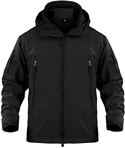 Memoryee Waterproof Men's Outdoor Softshell Jackets Warm Military Tactical Hoodies Camouflage Coat