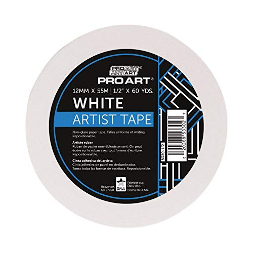 (Pro Art 1/2-Inch by 60-Yards White Artist Tape)