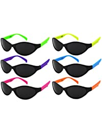 6 Pack Neon Kids Sunglasses with CPSIA Certified Lead...
