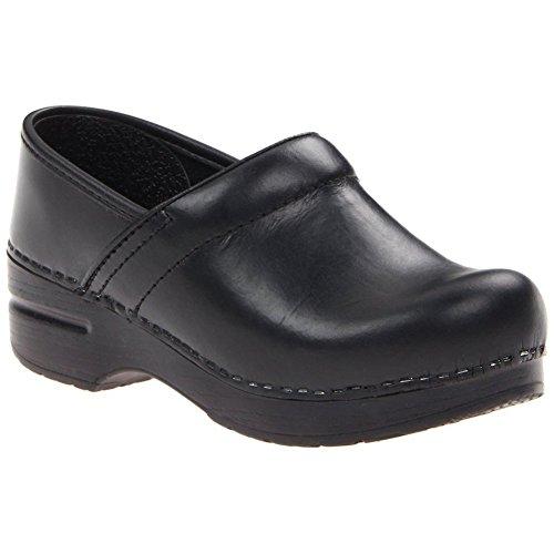 Dansko Men's Narrow Professional Clog Black Oiled Size 43 EU (9.5-10 M US Men) (Narrow Dansko Clogs)