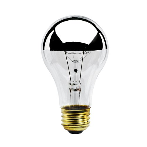 Base with Medium Screw E26 8 Pack Half Chrome Bulbrite 861265 60 W Dimmable A19 Shape Incandescent Bulb