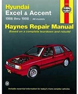 hundai excel accent 1986 thru 2009 all models haynes repair rh amazon com 1998 Hyundai Excel Hatchback KDM Hyundai Excel