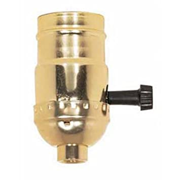 Brass Light Socket - Plated - 3-Terminal - 2 Circuit - Turn Knob -  sc 1 st  Amazon.com : light socket wiring - yogabreezes.com