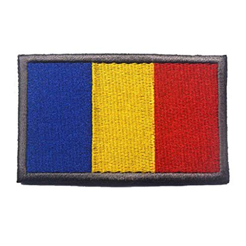 - ShowPlus Romania RO Flag Military Embroidered Tactical Patch Morale Shoulder Applique