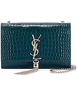 1d515b1ce3b8 Saint Laurent Kate Velvet Crystal-Monogram YSL Tassel Wallet on ...