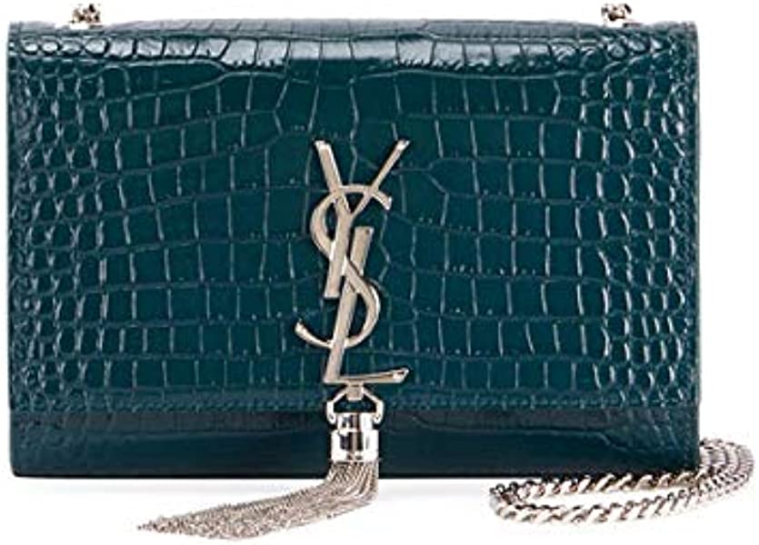 6fbd9b2b5cf8 Saint Laurent Kate Monogram YSL Small Tassel Croco Shoulder Bag  Handbags   Amazon.com