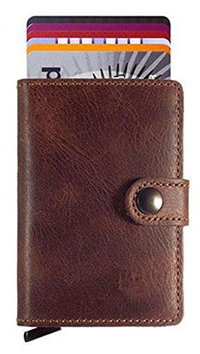 HONB RFID Slim Wallet Front Pocket Wallet Minimalist Secure Thin Credit Card Holder
