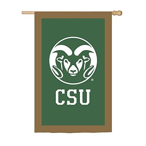 Team Sports America Colorado State University Applique House Flag, 29 x 43 -