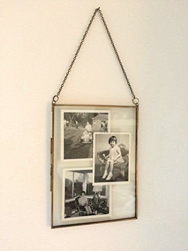 Antique Brass Glass and Metal Frame Picture Photo Frame Vintage Style Portrait 8
