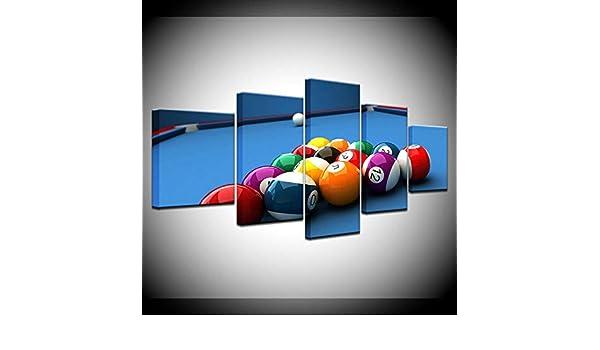 QianLei Pintura de Lienzo Mesa de Billar Deporte 5 Piezas Arte de Pared Pintura Fondos de Pantalla modulares Cartel -30x40 30x60 30x80cm Sin Marco: Amazon.es: Hogar