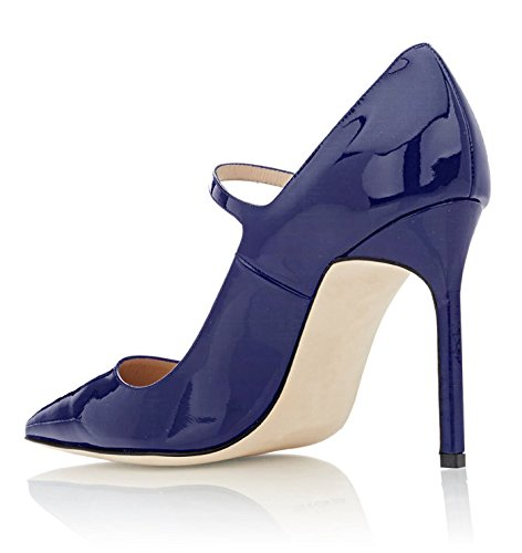 Mary Heel Jane Court 10CM Office Blue Soireelady Stilettos Shoes High Womens Pumps STHppIW