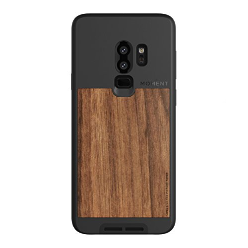 Galaxy S9+Case || Moment Photo Case in Walnut Wood - Thin, Protective, Wrist Strap Friendly case for Camera Lovers.