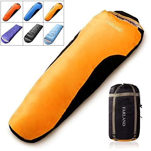 FARLAND Sleeping Bag 0 Degree to 20 Fahrenheit for 4 Seasons Envelope Mummy and Double Lightweight Portable Waterproof for Adults & Kids,Perfect for Traveling,Hiking and Outdoor Activities