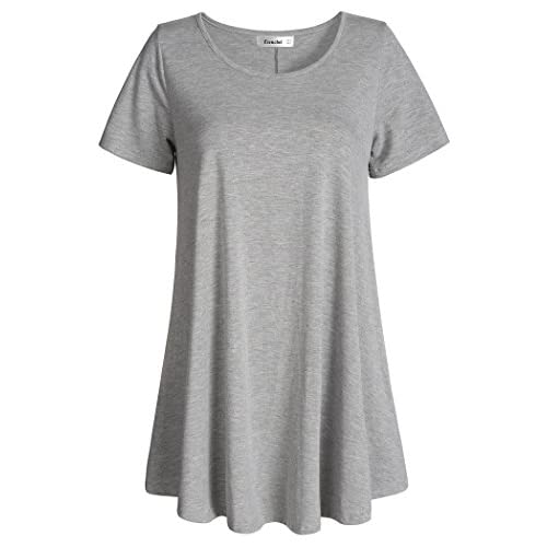 Nice Esenchel Women's Tunic Top Casual T Shirt for Leggings