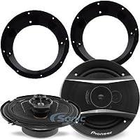 Pioneer TS-A1676R Speakers w/ Adapters For Select 1998-2013 Harley Davidson 320W 6-1/2 3-Way TSA Series Coaxial Car Speakers w/ 6.5 Speaker Adapters