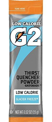 Gatorade G2 Thirst Quencher Low Calorie Glacier Freeze .52 Oz Powder Sleeves 14