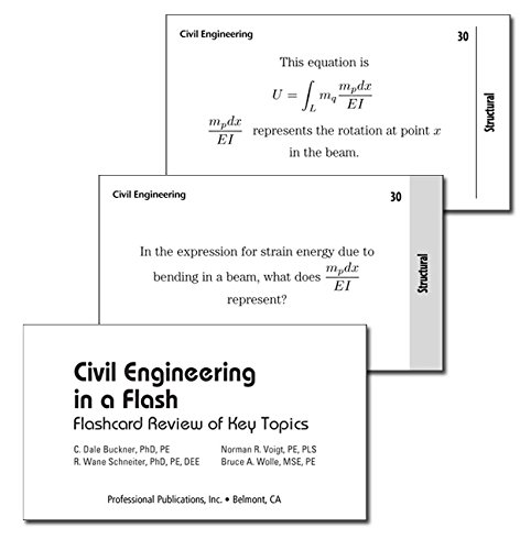 Civil Engineering in a Flash: Flashcard Review of Key Topics