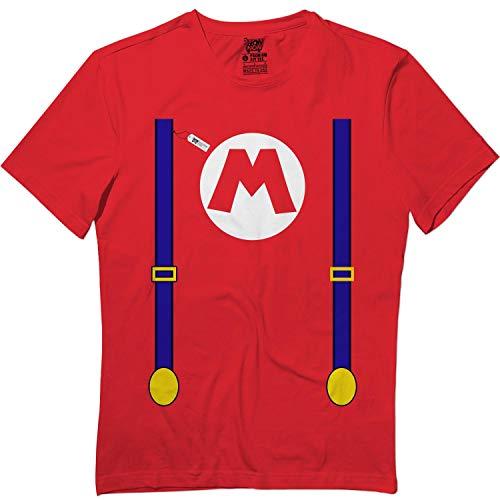 Red M-Hero Suspenders Halloween Cute Matching Team T