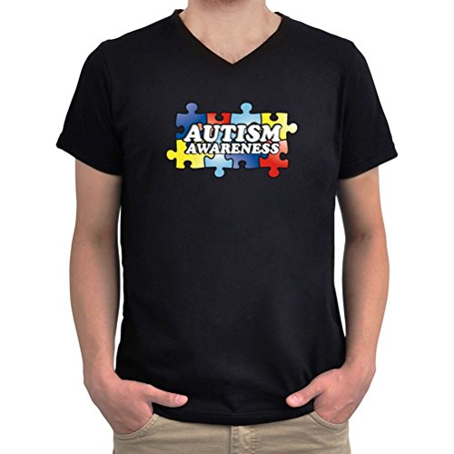Maglietta scollo a V Autism Awareness