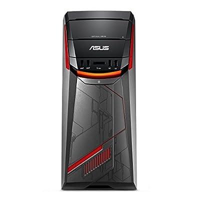 ASUS G11DF-DBR7-GTX1070 Mid-Tower Gaming PC, AMD Ryzen 7 1700, GTX 1050, 8GB DDR4, 256GB+1TB, USB-C, 802.11ac, DVD-RW, Keyboard + Mouse by ASUS Computers