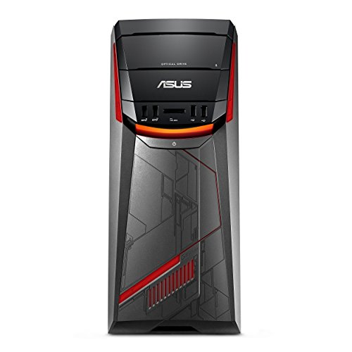 ASUS G11DF-DBR7-GTX1070 Mid-Tower Gaming PC, AMD Ryzen 7 1700, GTX 1050, 8GB DDR4, 256GB+1TB, USB-C, 802.11ac, DVD-RW, Keyboard + Mouse