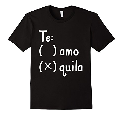 Running Pun Costumes (Mens Te Amo Tequila Spanish Sarcastic Tshirt - Funny Sayings Medium Black)