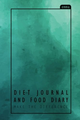 Diet Journal and Food Diary: Pastel Design : 100 Days Make the Difference (Size 6x9
