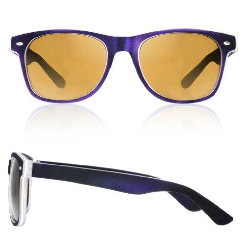 Mujer nbsp;fuerza lectura Morado nbsp;marrón para UV UV400 sol gafas 1 gafas sol lectores 5 4sold de carey Reader Unisex de Estilo de 4sold marca hombre SUXqWP6wx