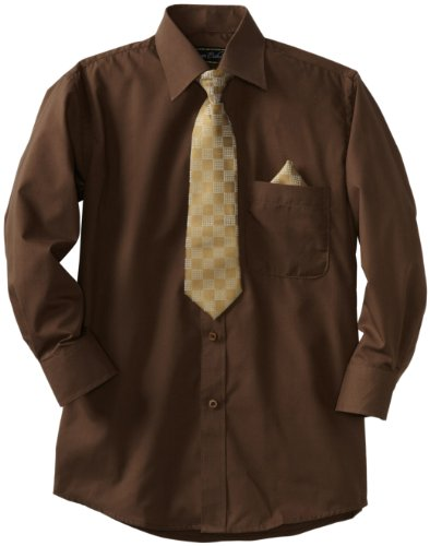 brown dress shirt and tie - 4