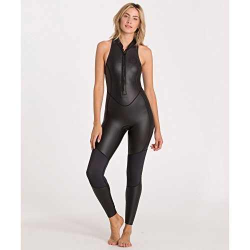 Billabong Women's Salty Jane Sleeveless Fullsuit Neoprene Wetsuit, Black, - Sleeveless Wetsuit