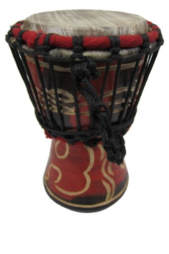 Classic Mini Djembe Drum 4'' X 8'' by Africa Heartwood Project