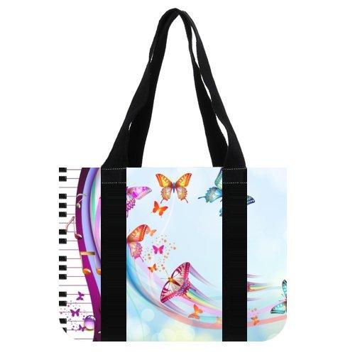 Amazon Com Tote Bag Cotton Bag Piano And Music Hand Bag Book