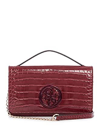 GUESS womens Kamryn Cc Wallet on a String Red Size: One Size