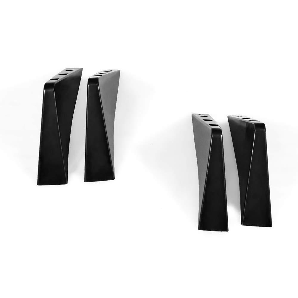 Rear Diffuser Universal Fitment Unpainted Black ABS Plastic Splitter Spoiler Valance Under Lip Body kit by IKON MOTORSPORTS