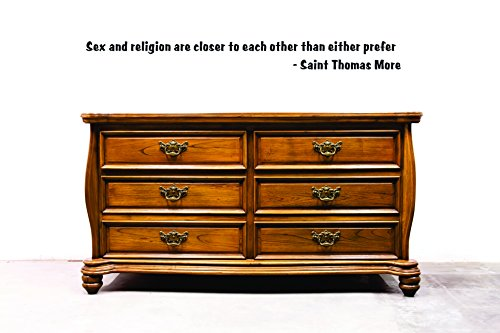 Saint Thomas More Quote- Sex and religion 16''x40'' | Vinyl Wall Decal by Simply Decals
