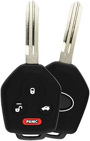 KeyGuardz Keyless Entry Remote Car Key Fob Outer Shell Cover Rubber Case For Subaru Forester Tribeca XV CrossTrek Pack of 2